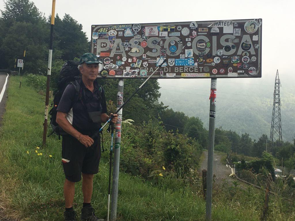 Inzwischen sind Heinz und Elfi über den Passo della Cisa gepilgert und in der Toscana!
